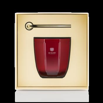 Geschenkset Kerze Rosso Nobile Mit Kerzenlöscher
