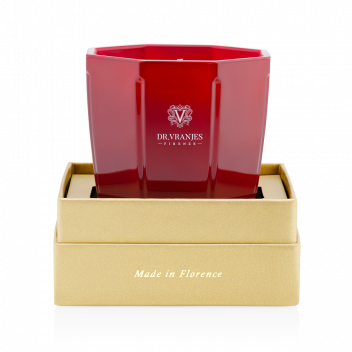 Geschenkbox Turmalin-Kerze Rosso Nobile 200g - Christmas Edition