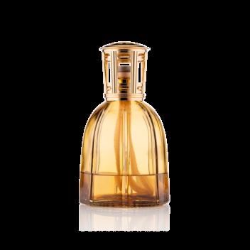 Lamparfum aus bernsteinfarbenem Glas mit Nachfüller